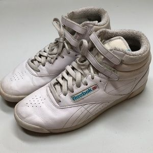 bef2a81f reebok high tops 80s womens gold